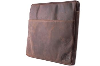 WILD WOODS - Laptoptasche 15,6 Zoll Leder Notebook Tasche Dokumententasche Echtleder Vintage Aktentasche Büffelleder Dunkelbraun