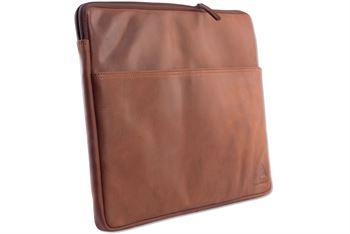 WILD WOODS - Laptoptasche 15,6  Zoll Leder Notebook Tasche Dokumententasche Echtleder Aktentasche Rindsleder Cognac