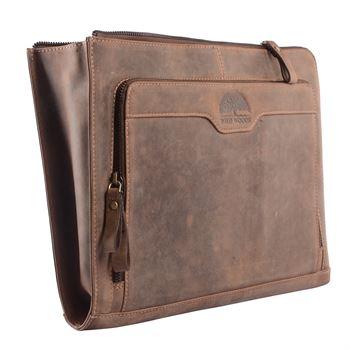 WILD WOODS - Laptoptasche Leder Notebook 13,3 Zoll Tasche Tablet Tasche Dokumententasche Echtleder Aktentasche
