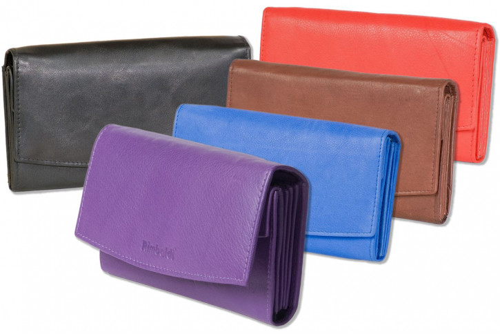 Rimbaldi® - Great ladies wallet with many compartments made from red natural, soft cow leather