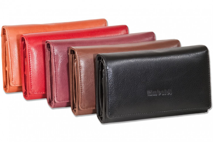 Rimbaldi® - Damengeldbörse mit besonders viel Platz aus naturbelassenem Rindsleder