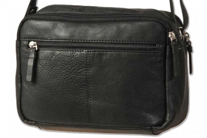 Platino - Luxus Damenhandtasche aus feinstem naturbelassenem, weichem Rindsleder in Schwarz