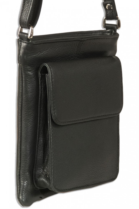 Platino - Luxus Damenhandtaschen aus feinstem naturbelassenem, weichem Rindsleder in Schwarz