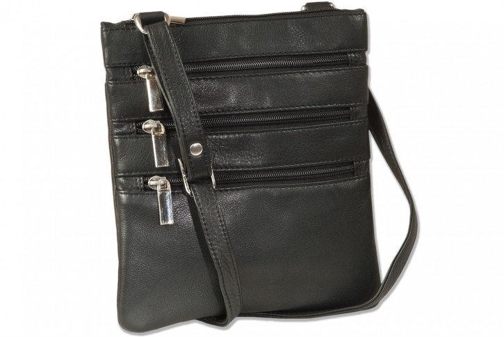Platino - luxury ladies handbag made of the finest natural, soft cowhide in black