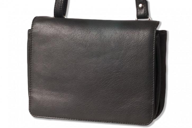 Platino - Luxus Damenhandtaschen aus feinstem, weichem Rindsleder in Schwarz