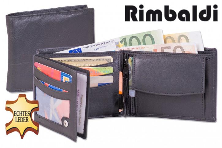 Rimbaldi® Riegelgeldbörse im Hochformat aus feinem Rind-Nappaleder