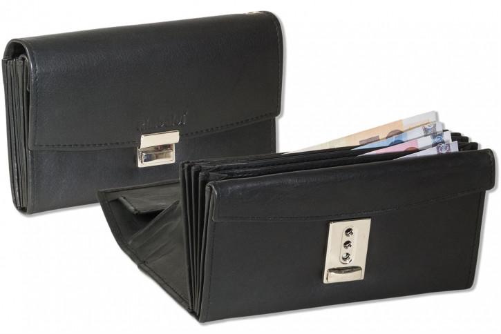 Rimbaldi® - Profi Kellnerbörse mit Lederboden im Hartgeldfach und aus naturbelassenem, weichem Rindsleder in Schwarz