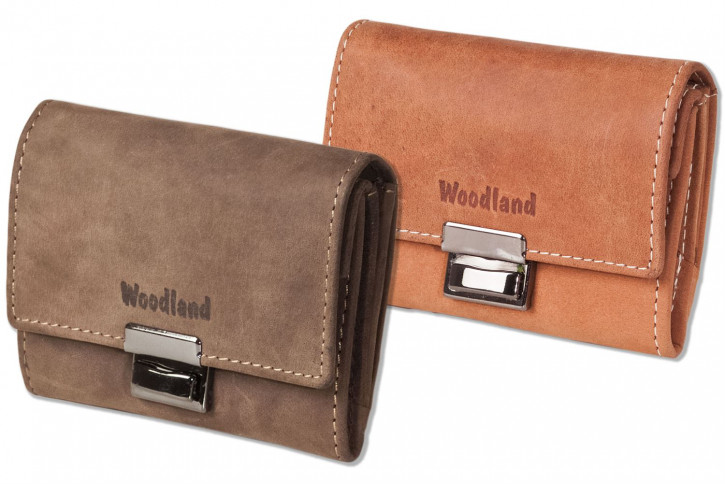 Woodland® Originelle Mini-Taxibörse aus naturbelassenem Büffelleder