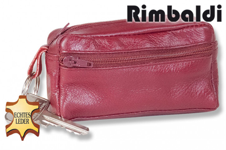 Rimbaldi® Große Schlüsseltasche mit Extrafach aus weichem, naturbelassenem Rindsleder in sortierten Farben
