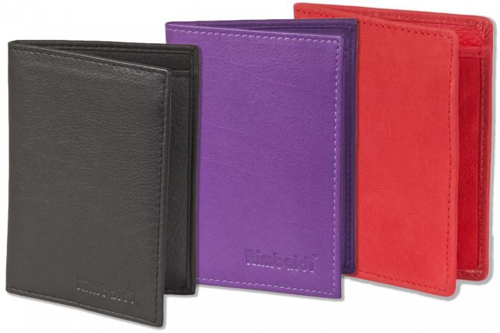 Rimbaldi - Ausweis-/Kreditkartenetui für 6 Kreditkarten und 4 Ausweise aus weichem, naturbelassenem Rindsleder