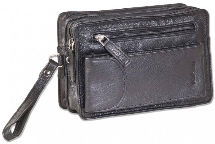 Rimbaldi® Handgelenktasche für Männer aus feinstem, hochwertigem Rind-Nappaleder in Schwarz