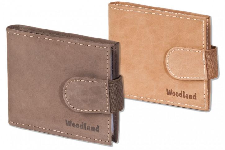 Woodland® Kreditkartenetui für 18 Kreditkarten oder 38 Visitenkarten aus weichem, naturbelassenem Büffelleder