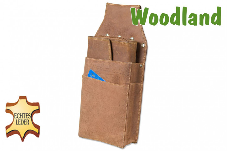 Woodland® - Professional Waiter wallet Holster made of soft, natural buffalo leather