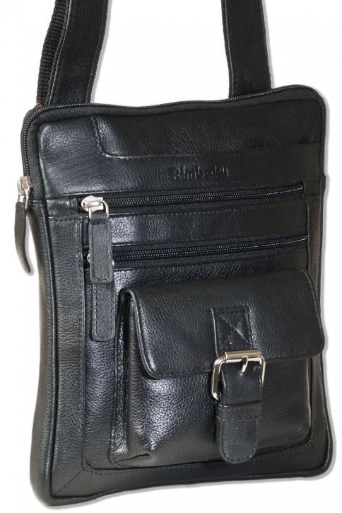 Rimbaldi® Umhängetasche aus feinem Nappa-Rinderleder in Schwarz
