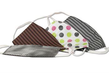 Komfort-Alltagsmaske aus hochwertigem Material und mit besonders elastischen Gummischlaufen - 4 verschiedene Designs