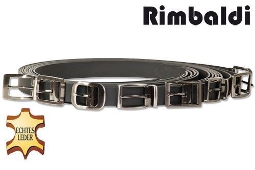 Rimbaldi® Voll-Ledergürtel mit verschiedenen masssiven Metallschnalle/Hartvernickelt aus glattem Büffelleder matt/schwarz