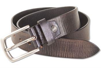 Rimbaldi - Ledergürtel mit massiver Metallschnalle aus 100% Voll-Büffelleder in Schwarz/Design