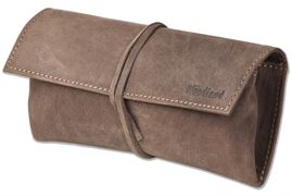 Woodland® Schreibgeräte-Mappe aus weichem, naturbelassenem Büffelleder in Dunkelbraun/Taupe