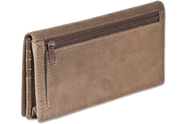 Woodland® besonders weiche Damen Geldbörse in Braun aus naturbelassenem Leder