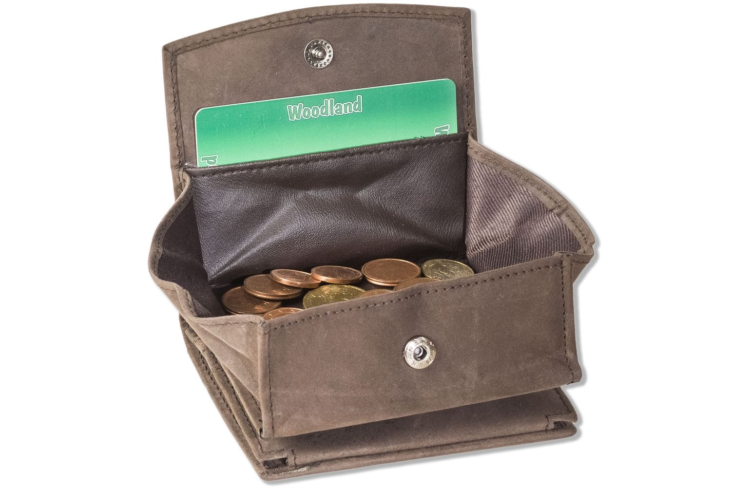 da292b6d1e4f2 Woodland® Small purse with large coin case made of natural