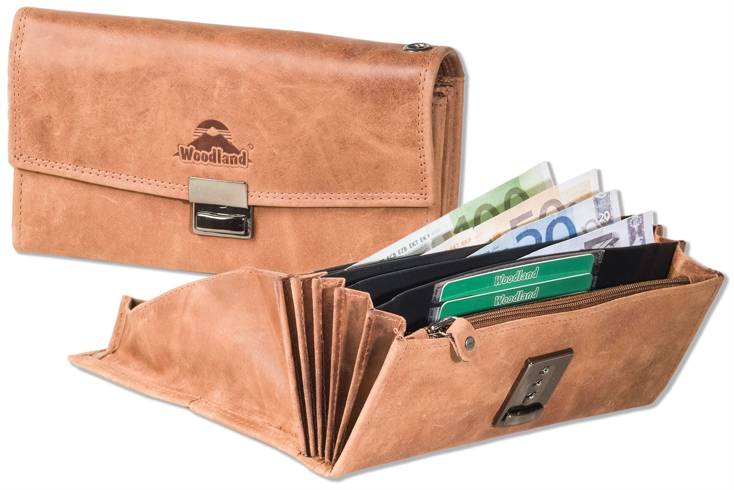 3491b7187fc1 Woodland® Waiter wallet with reinforced base in the large coin ...