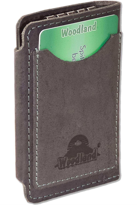 WOODLAND ® Pelle Custodia Chiave chiavi della macchina ASTUCCIO carte di credito in antracite