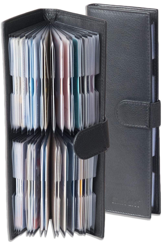 Rimbaldi® Kreditkartenetui in Lila mit verstärkten Fächern aus feinem Leder