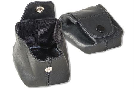 Rimbaldi® Mini-Pocket für Münzen oder Kleinteile aus feinem Rind-Nappaleder in Schwarz