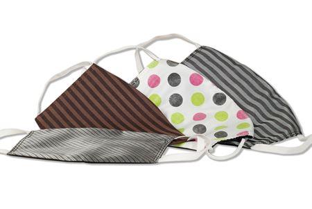 Komfort-Alltagsmasken aus hochwertigem Material und mit besonders elastischen Gummischlaufen - 4 verschiedene Designs