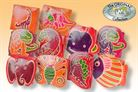 Hand-painted children's coin small leather with 10 different designs of genuine goatskin (Sort 3)