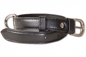 Rimbaldi® Full leather dog collar for small dogs with 25-35 cm neck circumference in black
