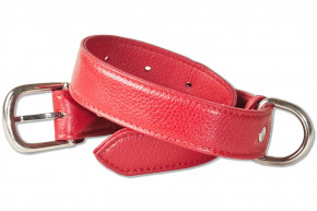 Rimbaldi® Full leather dog collar for medium-size dogs with 35-45 cm neck circumference in Red