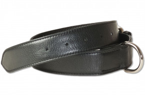 Rimbaldi® Full leather dog collar for medium-size dogs with 45-55 cm neck circumference in black