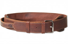 Woodland® Full buff-leather dog collar for very large dogs with 55-70 cm neck circumference in brown