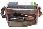 WILD WOODS® - Laptop Messenger Bag Vintage Leder große Umhängetasche mit 15,6 Zoll Notebook-Fach Aktentasche für Business Büro Uni in Dunkelbraun