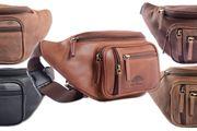 WILD WOODS® - Modische Bauchtasche Echt Leder Gürteltasche Unisex Hüfttasche