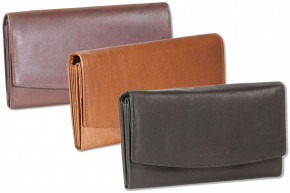Rinaldo® - Great ladies wallet with many compartments made from red natural, soft calf leather