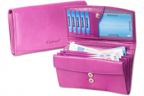 Rimbaldi® - Great ladies wallet with many compartments made from aubergine natural, soft cow leather