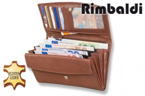 Rimbaldi® - Great ladies wallet with many compartments made from red natural, soft ccow leather