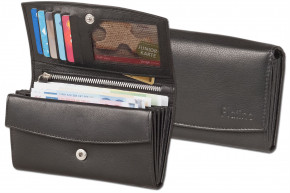 Platino -  Large Ladies Wallet in first-class quality with many subjects. Finest red, natural cow leather