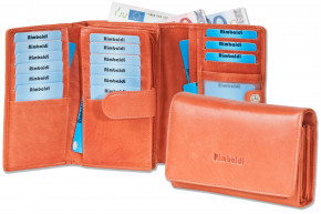Rimbaldi® Wallet with extra space from natural cow leather in rust