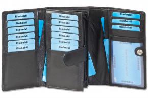Rimbaldi® - Damengeldbörse mit besonders viel Platz aus naturbelassenem Rindsleder in Schwarz
