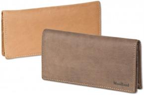 Woodland® Große Luxus Damen-Lederbörse aus naturbelassenem, weichem Büffelleder