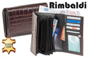 Rimbaldi - Große Damengeldbörse aus gutem Rinderleder im Krokodesign > IN VERSCHIEDENEN FARBEN ERHÄLTLICH!