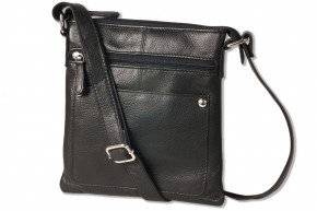 Platino - Luxury ladies' handbag made from the finest soft leather with Black