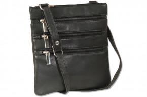 Platino - Luxus Damenhandtasche aus feinstem naturbelassenem, weichem Rinderleder in Schwarz