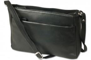 Platino - Luxus Damenhandtaschen aus feinstem naturbelassenem, weichem Rinderleder in Schwarz