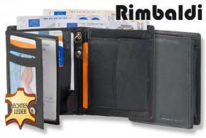 Rimbaldi - Hochformat-Riegelbörse aus Rind-Nappaleder in Dunkelbraun