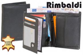 Rimbaldi -  Riegelgeldbörse im Hochformat aus feinem Nappa-Rindsleder in Schwarz