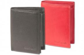 Rimbaldi® Riegelgeldbörse im Hochformat aus besonders weichem, naturbelassenem Rindsleder